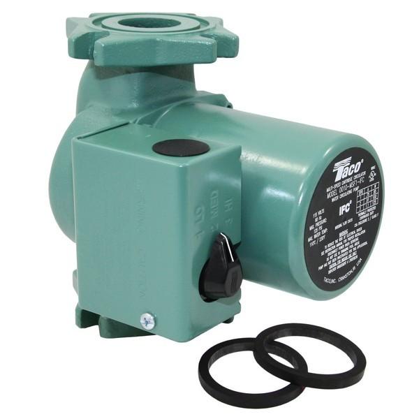 Taco 0010-MSF2-IFC 3-Speed Circulator Pump with IFC, 1/20 HP, 115V
