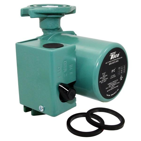 Taco 0015-MSF3-1IFC 3-Speed Circulator Pump with IFC,Rotated Flange, 1/20 HP, 115V