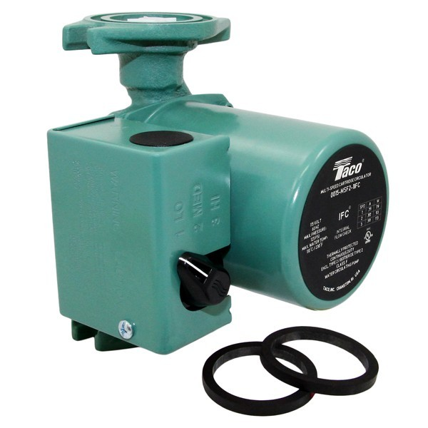 Taco 0015-MSF3-IFC 3-Speed Circulator Pump with IFC, 1/20 HP, 115V