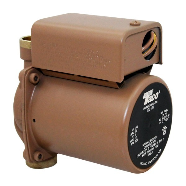 Taco 006-B4 Bronze Circulator Pump,3/4' Sweat 1/35 HP, 115V