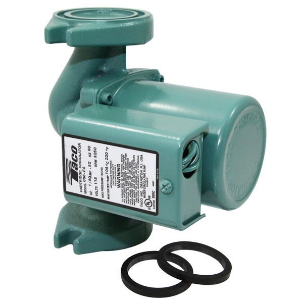 Taco 006-F4 Circulator Pump, 1/40 HP, 115V