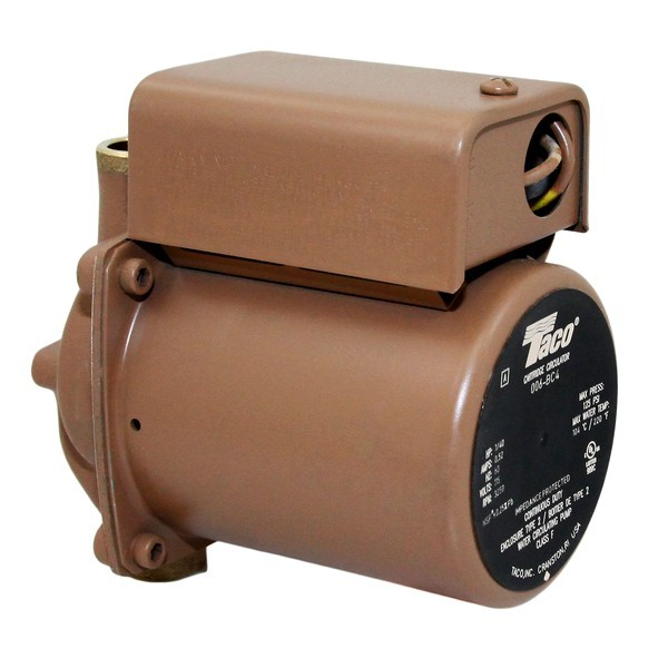 Taco 006-BC4 Bronze Circulator Pump,1/2' Sweat 1/40 HP, 115V