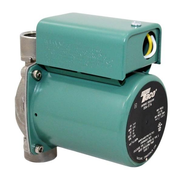 Taco 006-ST4 Stainless Steel Circulator Pump,3/4' NPT, 1/40 HP, 115V