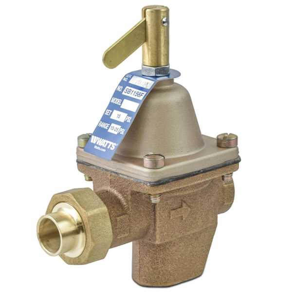 "SB1156F, 1/2"" High Capacity Boiler Fill Valve, FNPT x Sweat Union"