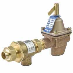 "B911S-M3, 1/2"" Boiler Fill (1156) & Backflow Preventer (9D) Valve Combination, FNPT x Sweat Union"