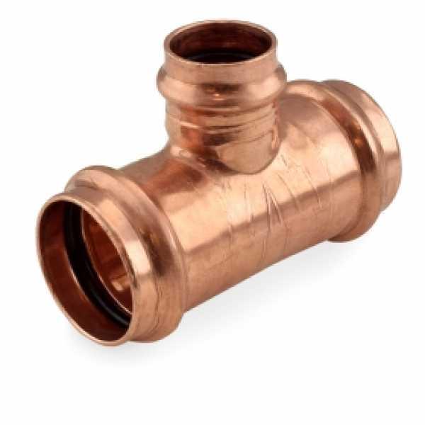 """1-1/2"""" x 1-1/2"""" x 1"""" Press Copper Tee"""
