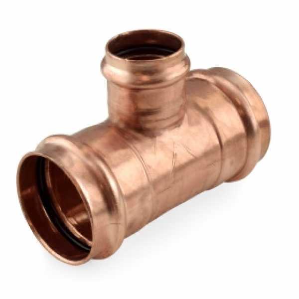 """2"""" x 2"""" x 1-1/4"""" Press Copper Tee"""