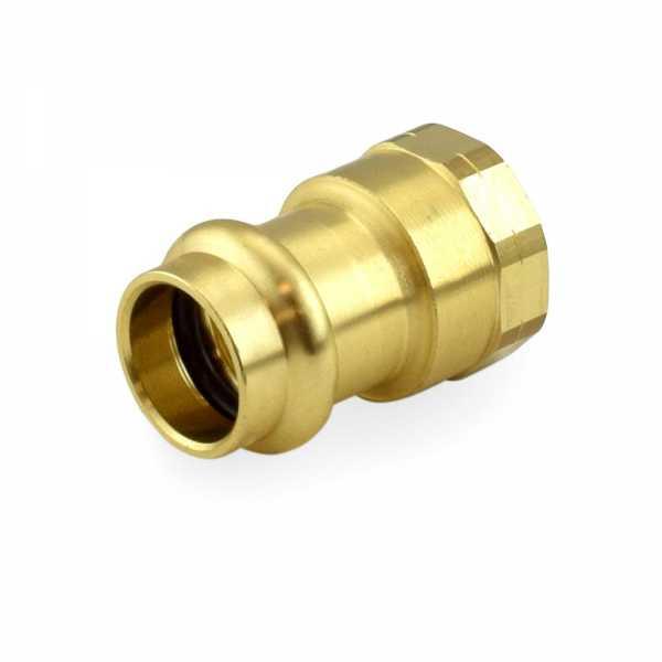 "1/2"" Press x Female Threaded Adapter, Lead-Free Brass"