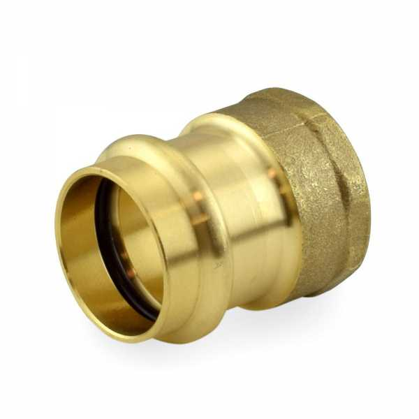 "1"" Press x Female Threaded Adapter, Lead-Free Brass"
