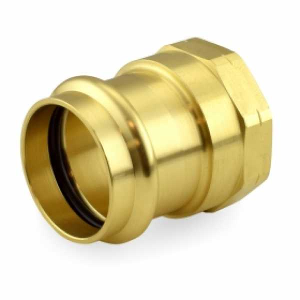 "1-1/2"" Press x Female Threaded Adapter, Lead-Free Brass"