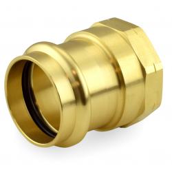 "2"" Press x Female Threaded Adapter, Lead-Free Brass"