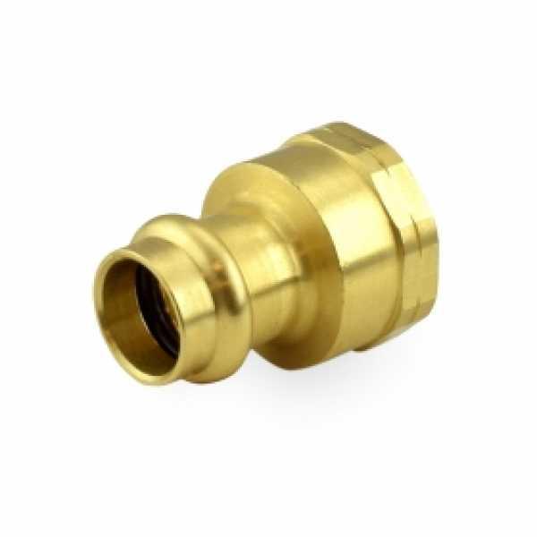 "1/2"" Press x 3/4"" Female Threaded Adapter, Lead-Free Brass"