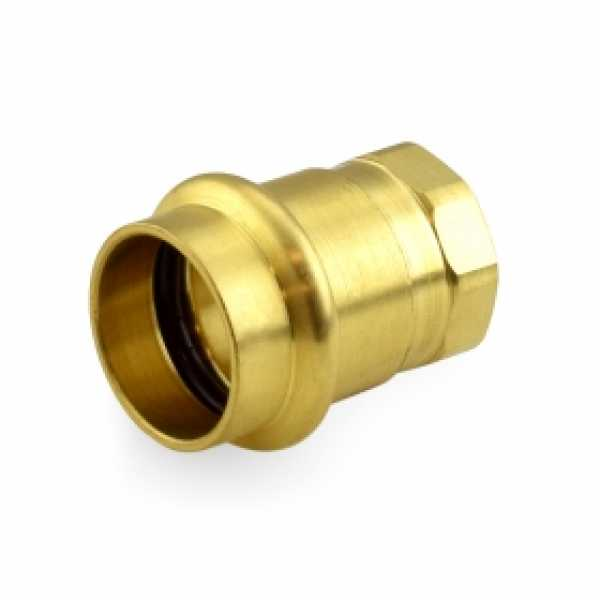 "3/4"" Press x 1/2"" Female Threaded Adapter, Lead-Free Brass"