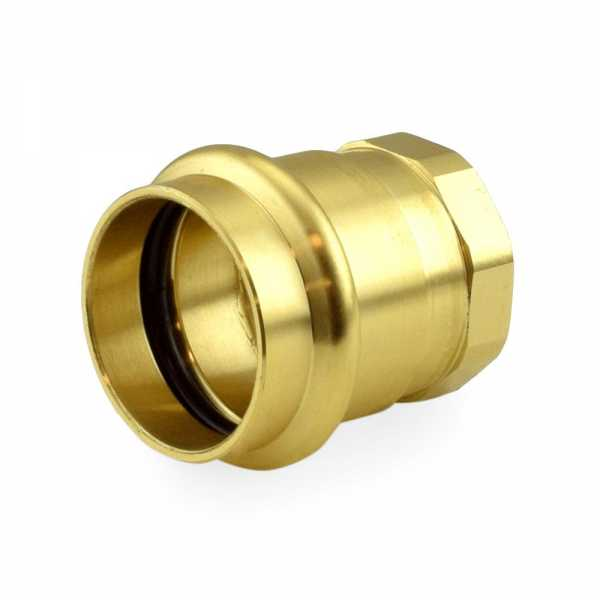 "1"" Press x 3/4"" Female Threaded Adapter, Lead-Free Brass"