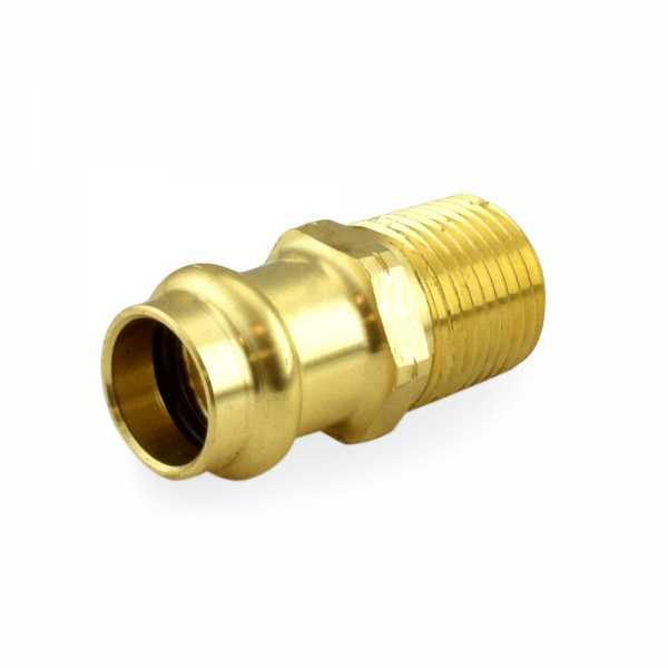 "1/2"" Press x Male Threaded Adapter, Lead-Free Brass"
