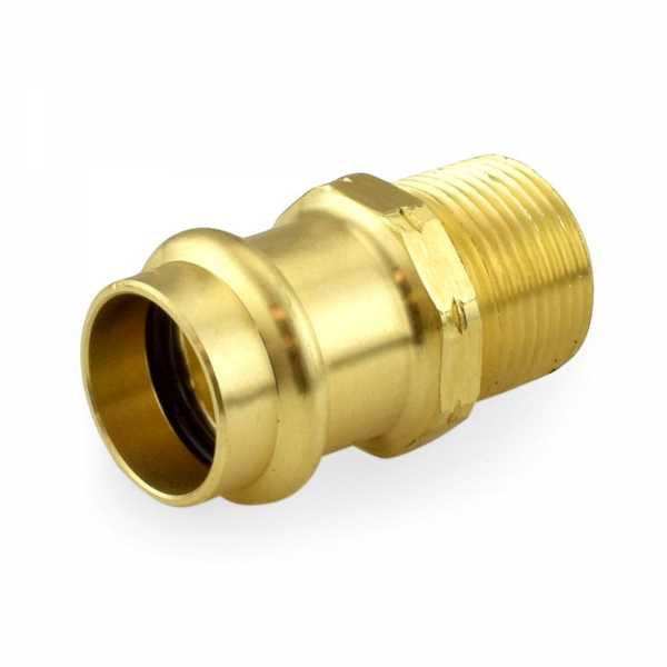 "3/4"" Press x Male Threaded Adapter, Lead-Free Brass"
