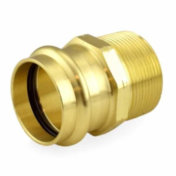 "1-1/2"" Press x Male Threaded Adapter, Lead-Free Brass"