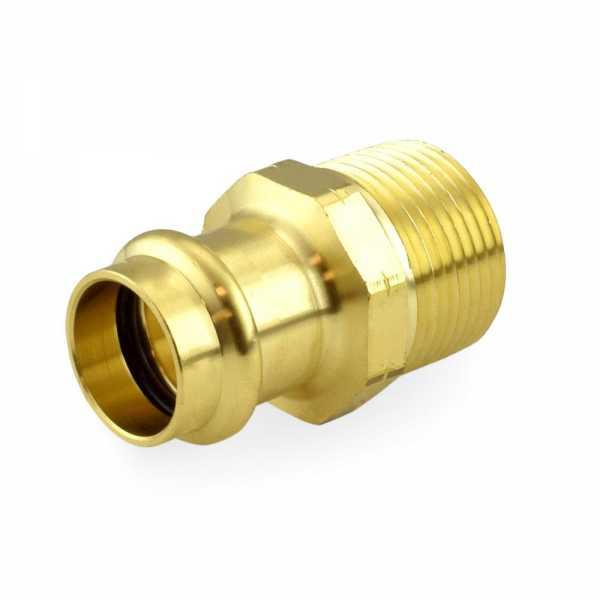 "1/2"" Press x 3/4"" Male Threaded Adapter, Lead-Free Brass"
