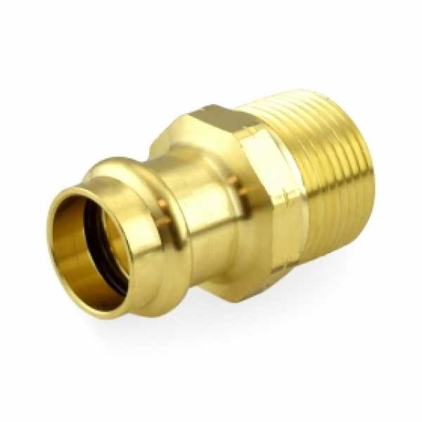 "3/4"" Press x 1"" Male Threaded Adapter, Lead-Free Brass"