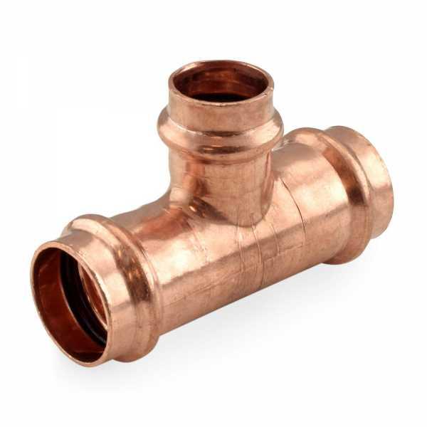 """1"""" x 1"""" x 3/4"""" Press Copper Tee"""