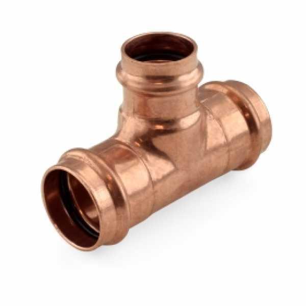 """1-1/4"""" x 1-1/4"""" x 1"""" Press Copper Tee"""