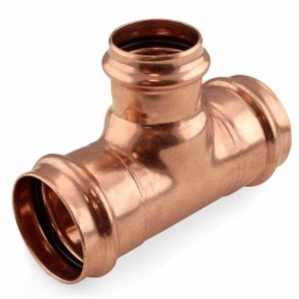 """2"""" x 2"""" x 1-1/2"""" Press Copper Tee"""