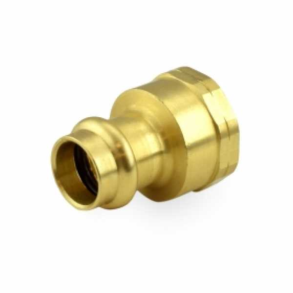 "1/2"" Press x 3/4"" Female Threaded Adapter, Lead-Free Brass"