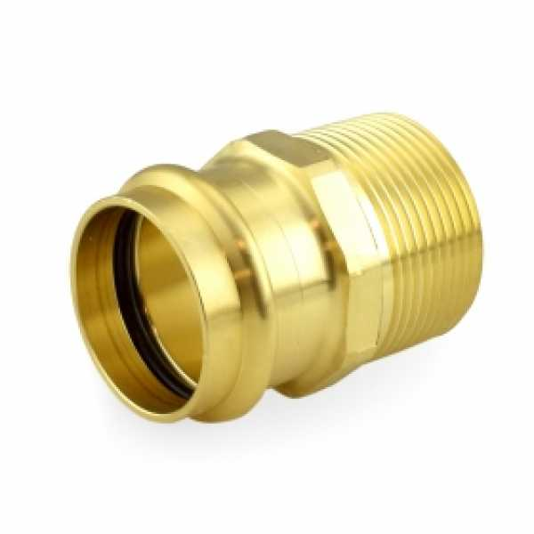 "1-1/4"" Press x Male Threaded Adapter, Lead-Free Brass"