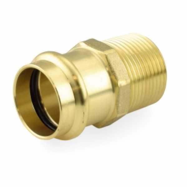 "1"" Press x Male Threaded Adapter, Lead-Free Brass"