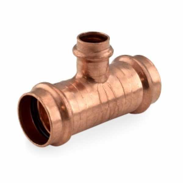 """1"""" x 1"""" x 1/2"""" Press Copper Tee"""