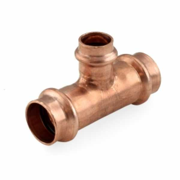 "3/4"" x 3/4"" x 1/2"" Press Copper Tee"