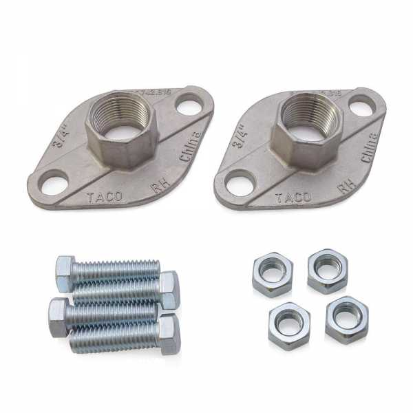 """3/4""""  NPT Stainless Steel Freedom Flanges (Pair)"""