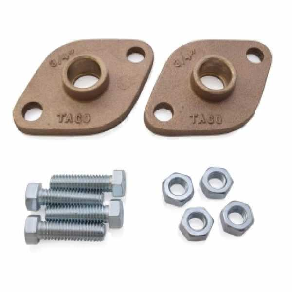 "3/4"" Sweat Bronze Freedom Flanges (Pair)"