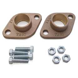 "1-1/4"" Sweat Bronze Freedom Flanges (Pair)"