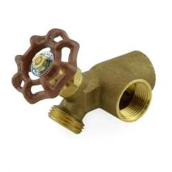 "3/4"" FPT Water Heater Drain Valve w/ Recirculation Outlet, Lead-Free"