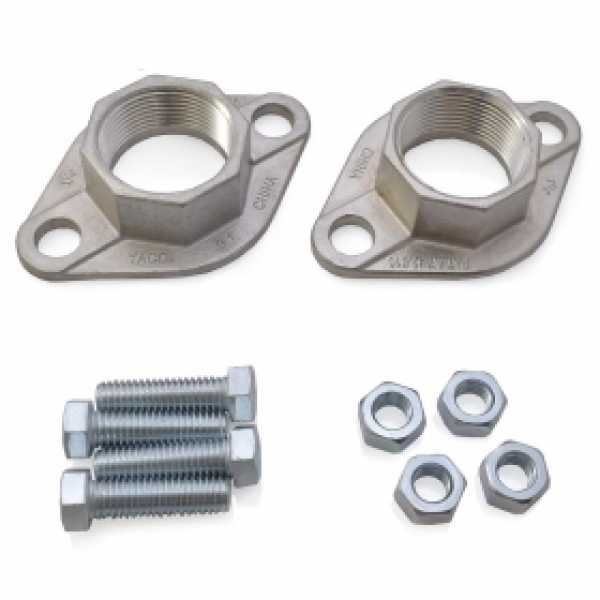 """1-1/4""""  NPT Stainless Steel Freedom Flanges (Pair)"""