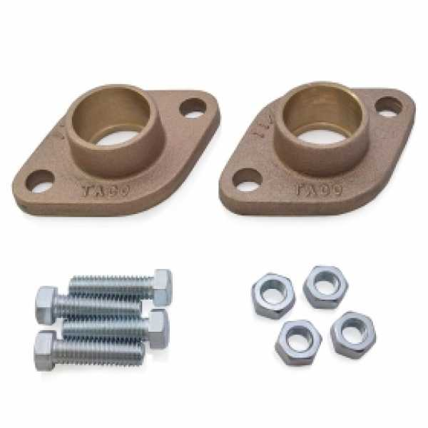 "1/2"" Sweat Bronze Freedom Flanges (Pair)"