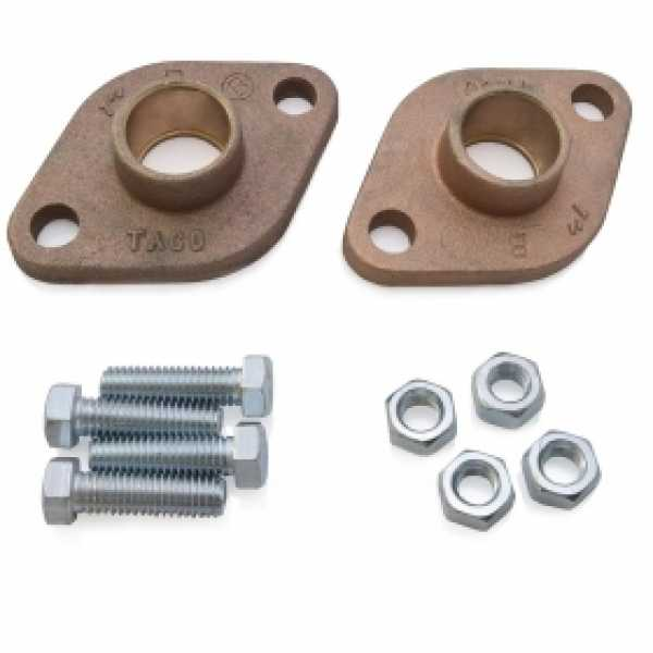 "1"" Sweat Bronze Freedom Flanges (Pair)"