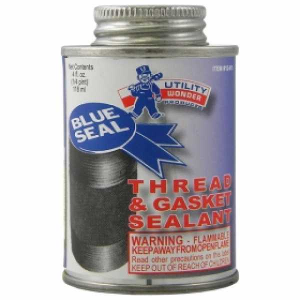 Blue-Seal Pipe Joint Sealant w/ Brush Cap, 4 oz (1/4 pint)