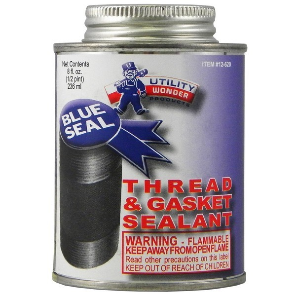 Utility Wonder 01.12.620 Blue-Seal Pipe Joint Sealant, 1/2 pt, PTFE