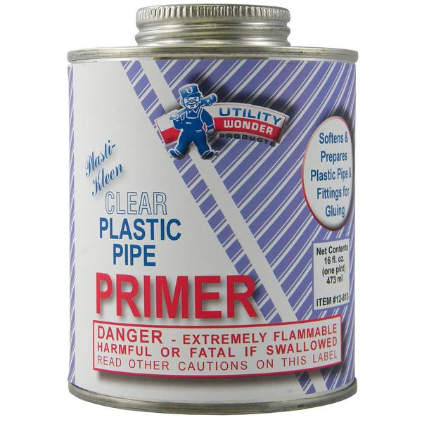 Clear PVC Primer, 16 oz (1 pint)