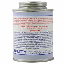 Medium-Body Fast-Set PVC Cement w/ Dauber, Clear, 8 oz (1/2 pint)