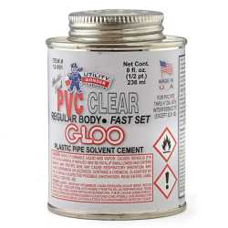 PVC Cement w/ Dauber, Regular-Body Fast-Set, Clear, 8oz