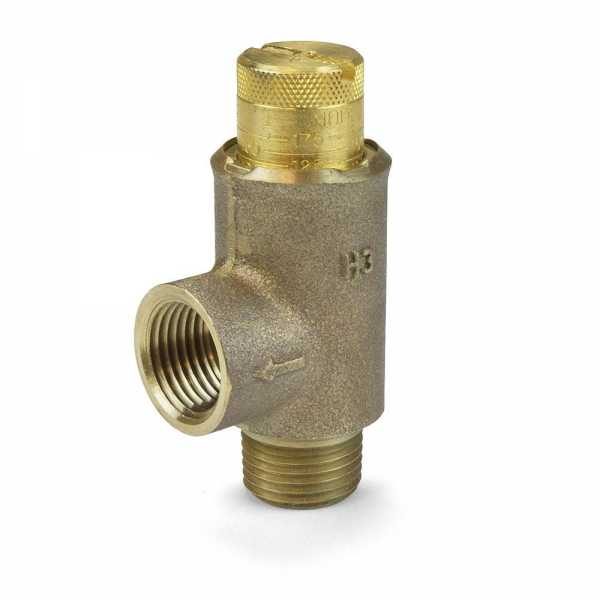 "1/2"" Adjustable Pressure Relief Valve, 25-175 psi (Lead-Free)"