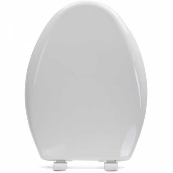 Bemis 1200E4 (Cotton White) Premium Plastic Soft-Close Elongated Toilet Seat