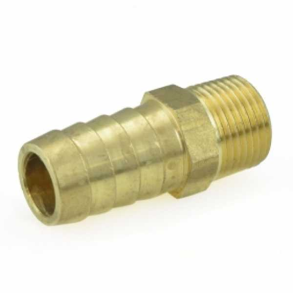 "5/8"" Hose Barb x 3/8"" MIP Brass Adapter, Lead-Free"