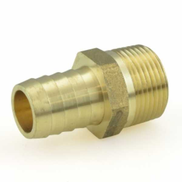 "3/4"" Hose Barb x 3/4"" MIP Brass Adapter, Lead-Free"