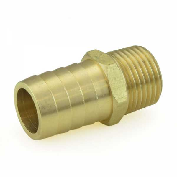 "3/4"" Hose Barb x 1/2"" Male Threaded Brass Adapter, Lead-Free"