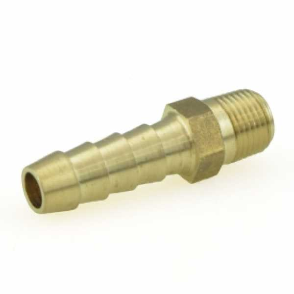 "1/4"" Hose Barb x 1/2"" MIP Brass Adapter, Lead-Free"