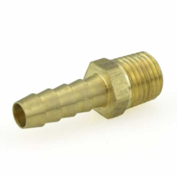 "5/16"" Hose Barb x 1/4"" MIP Brass Adapter, Lead-Free"